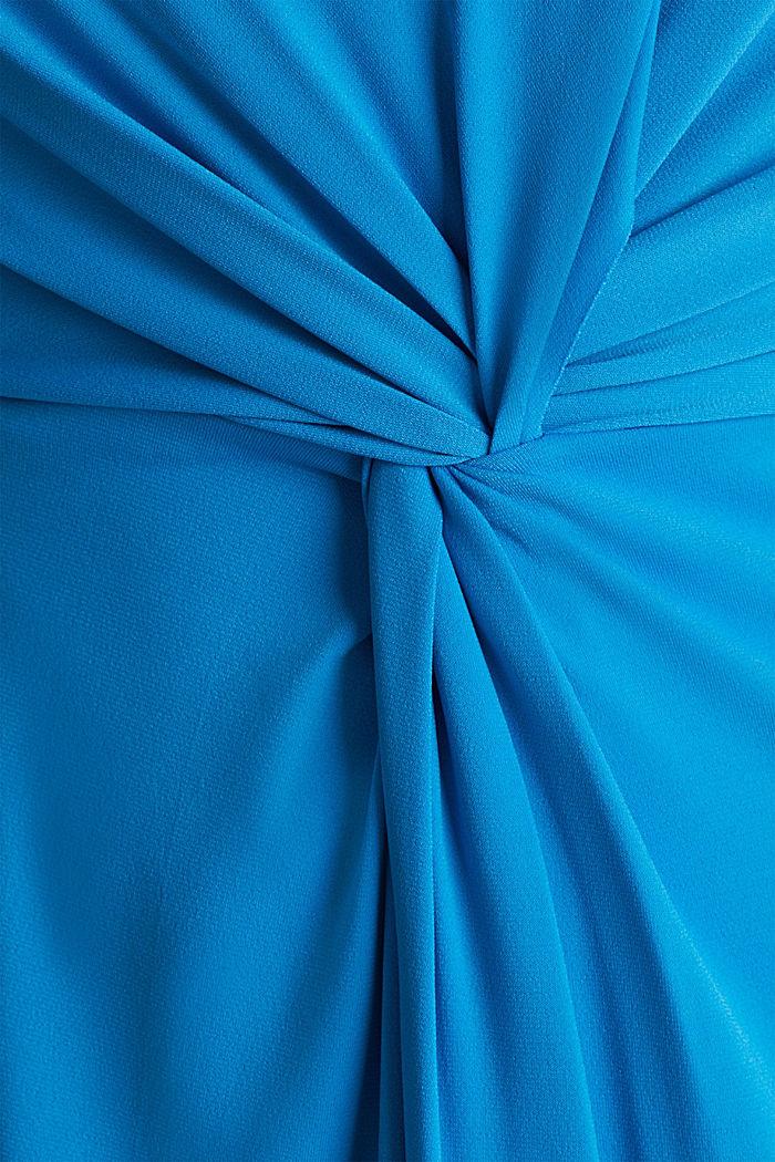 Jersey-Stretch-Kleid mit Drapé-Effekt, PETROL BLUE, detail image number 2