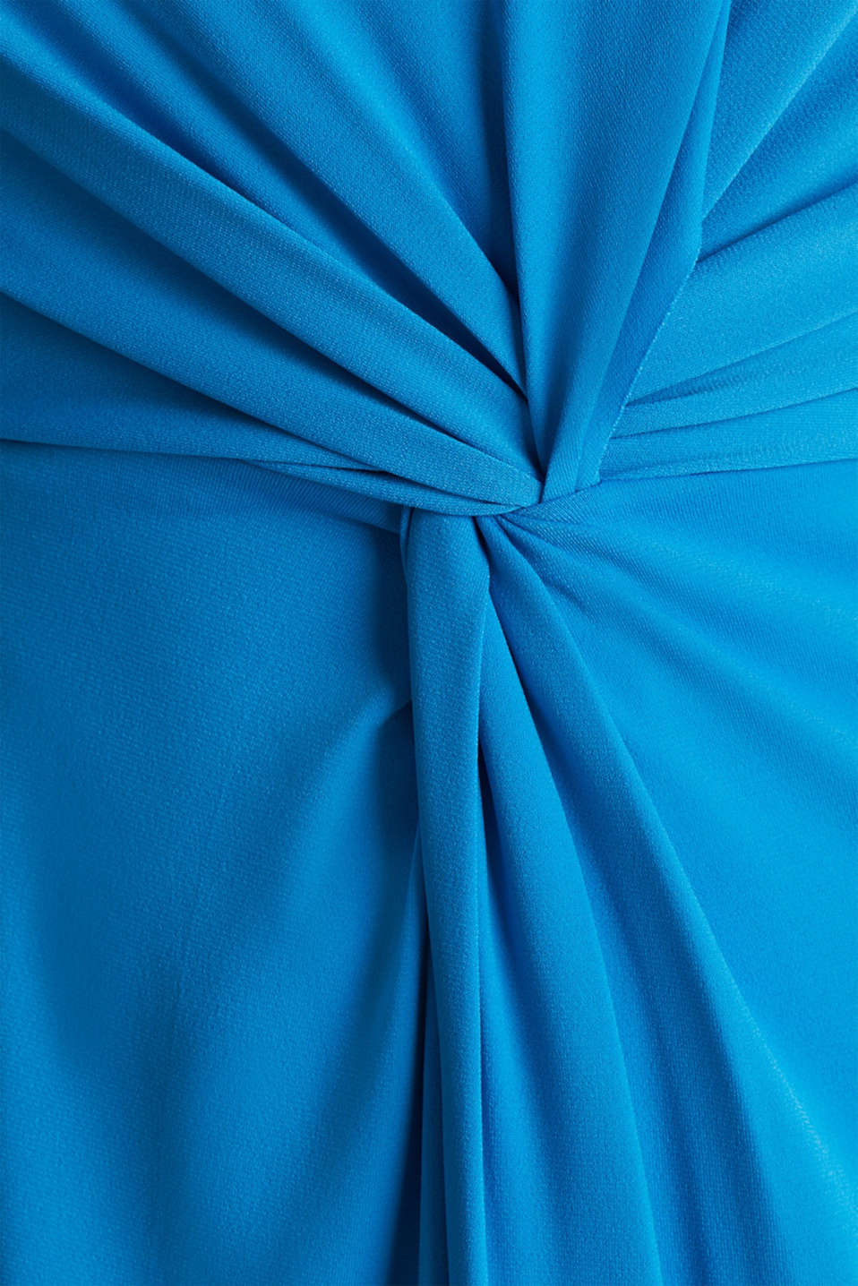 Stretch jersey dress with a draped effect, PETROL BLUE, detail image number 2