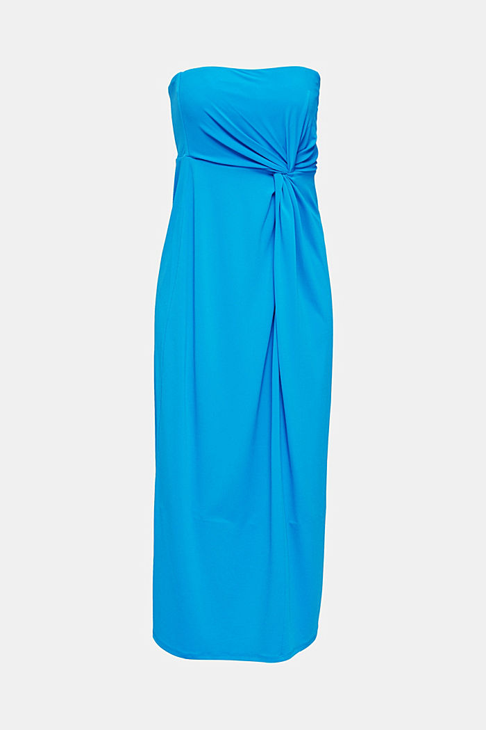 Stretch jersey dress with a draped effect, PETROL BLUE, detail image number 0