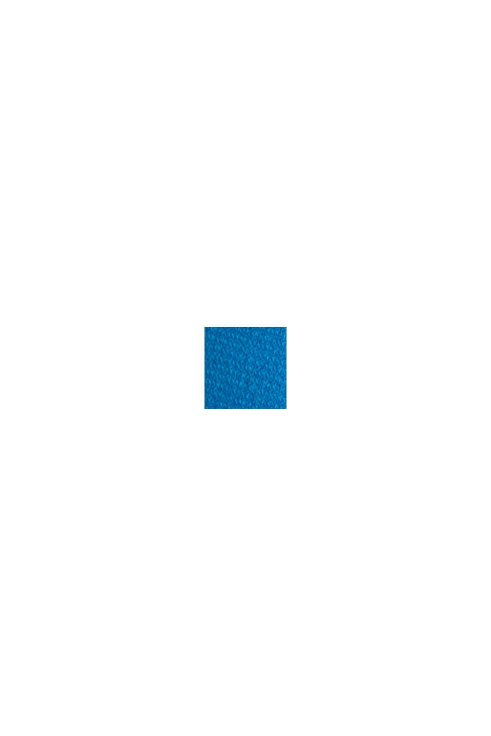 Jersey-Stretch-Kleid mit Drapé-Effekt, PETROL BLUE, swatch