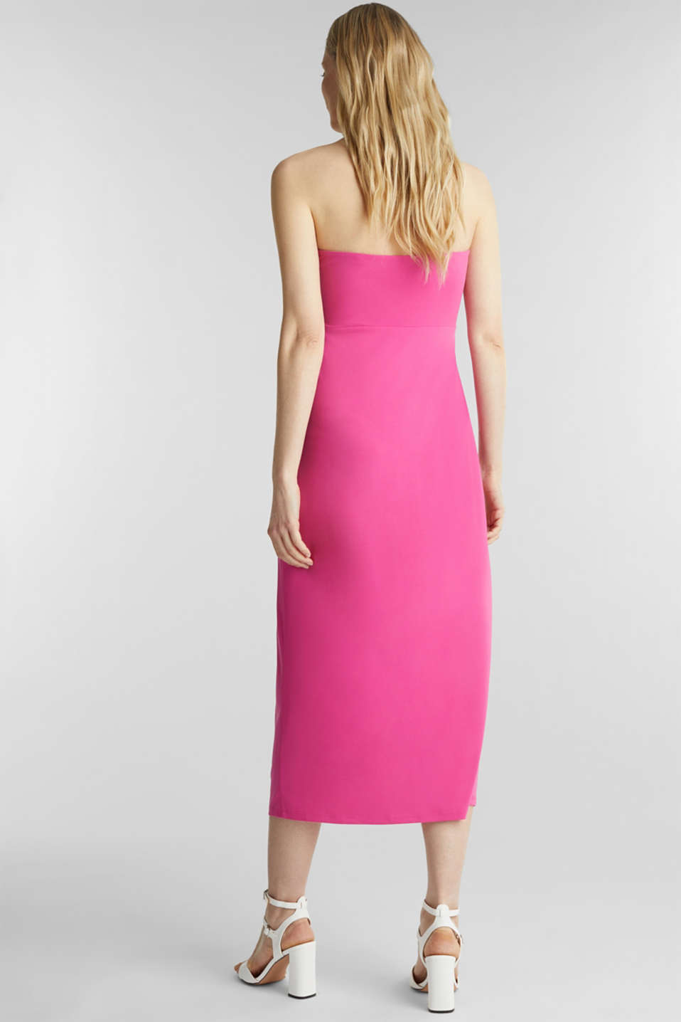 Stretch jersey dress with a draped effect, PINK, detail image number 2