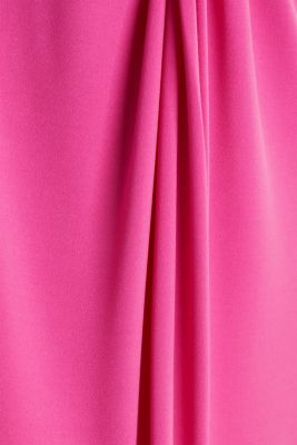 Stretch jersey dress with a draped effect, PINK, detail