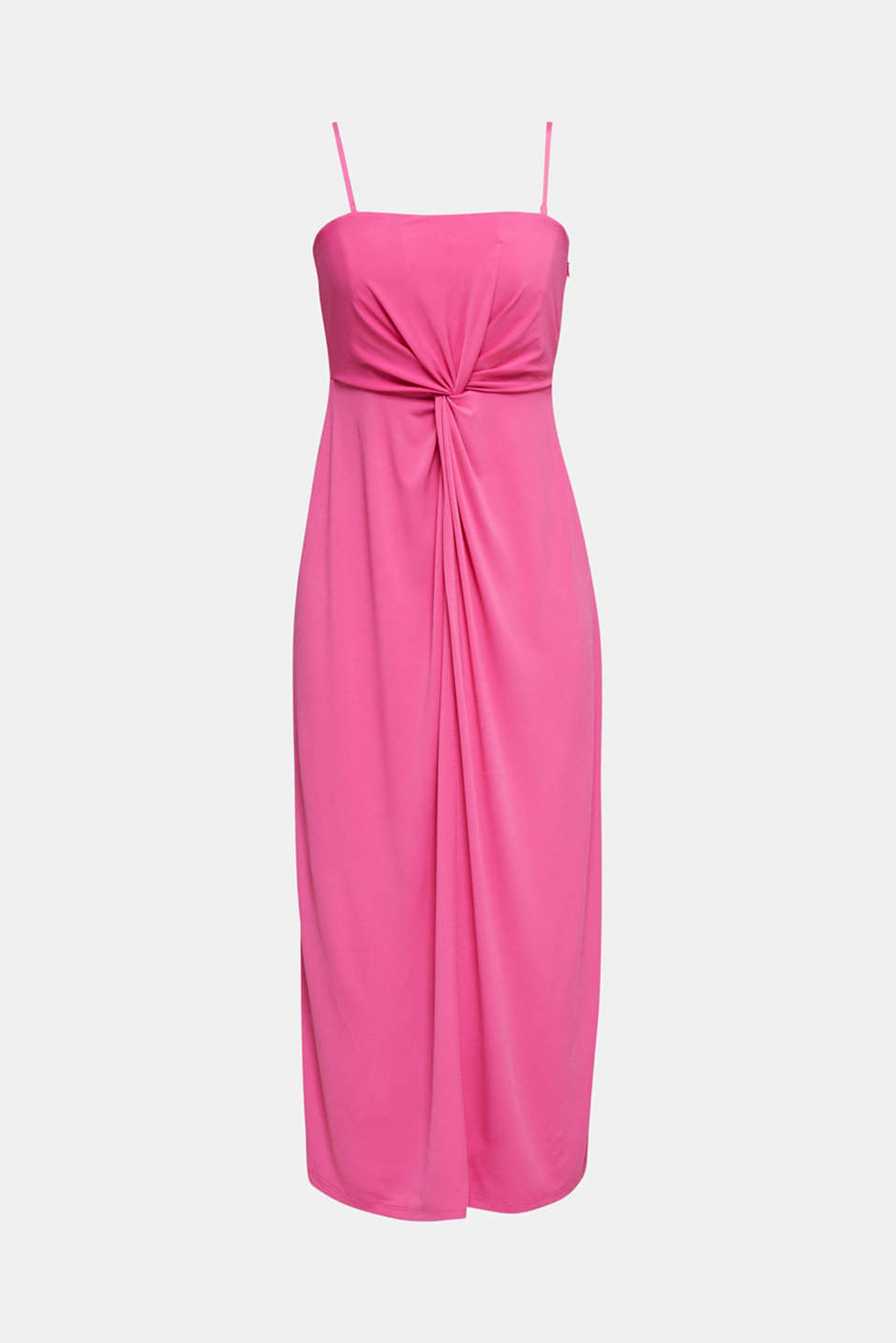 Stretch jersey dress with a draped effect, PINK, detail image number 6