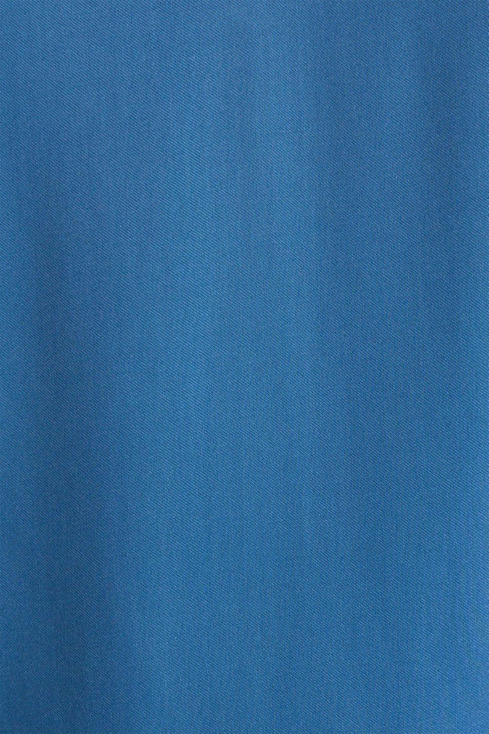 Satin dress with a flounce hem, PETROL BLUE, detail image number 4