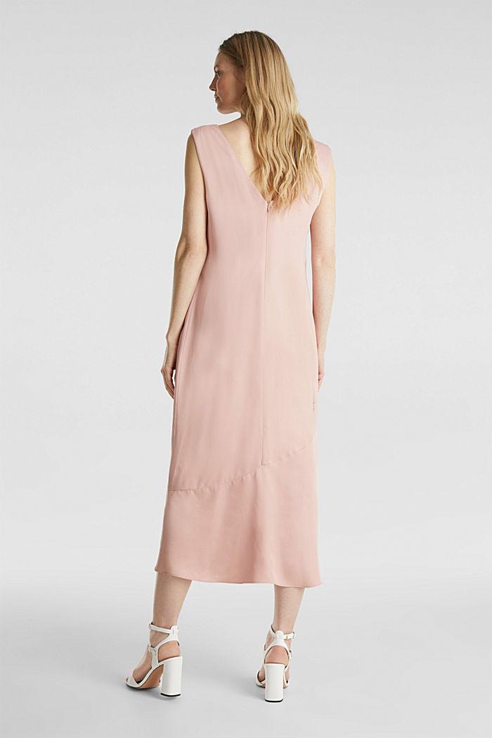 Satin-Kleid mit Saum-Volant, NUDE, detail image number 1
