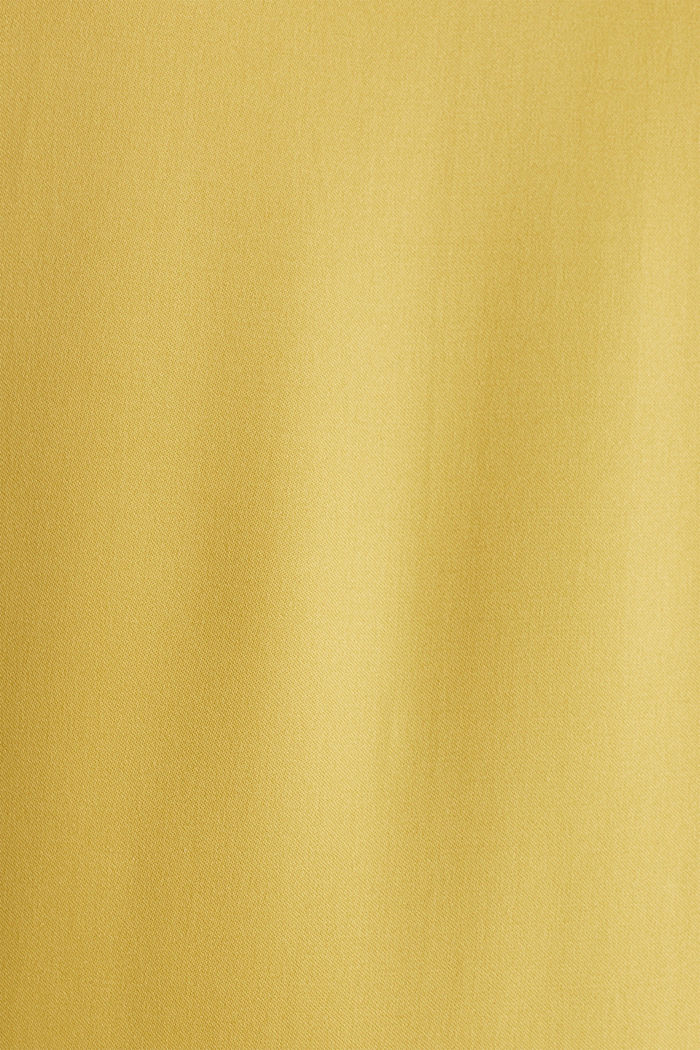 Satin dress with a flounce hem, DUSTY YELLOW, detail image number 3