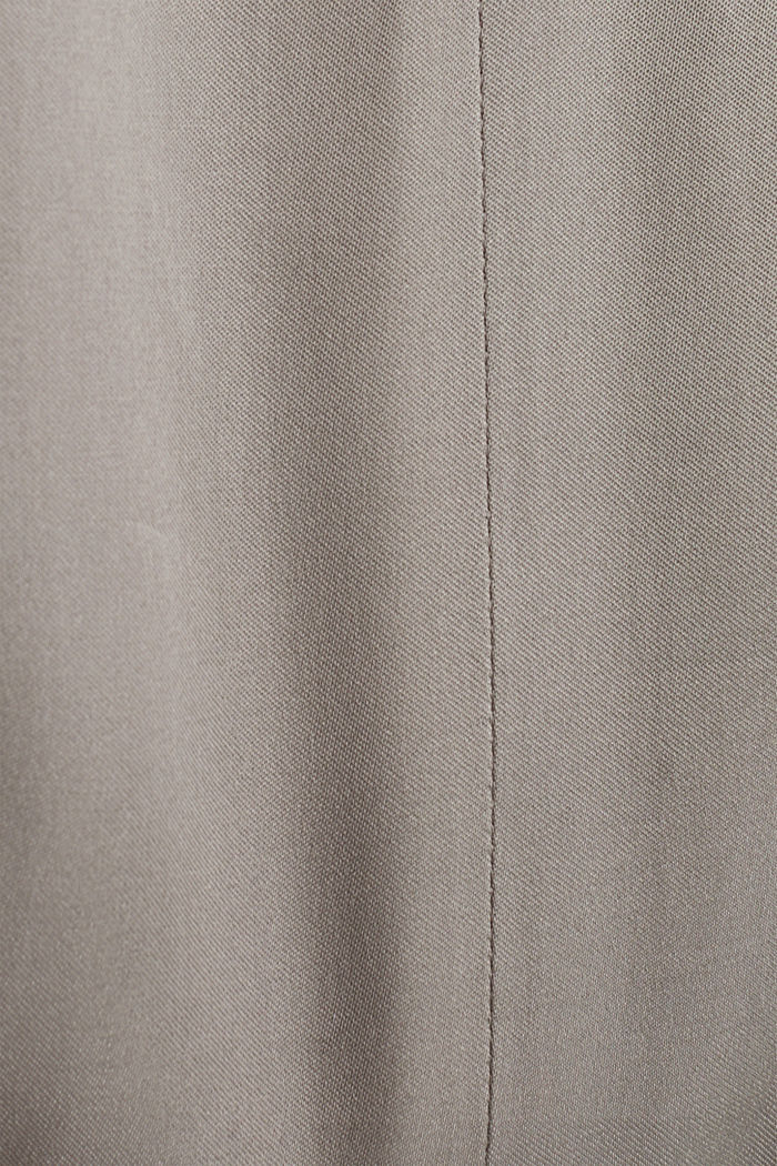 Satin-Kleid mit schwingendem Rock, GUNMETAL, detail image number 4