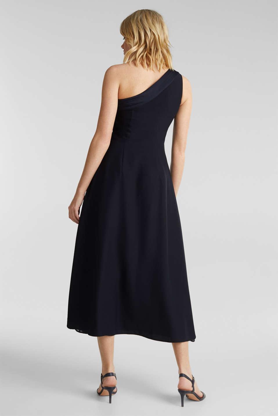 Maxi dress in a one-shoulder design, NAVY, detail image number 1