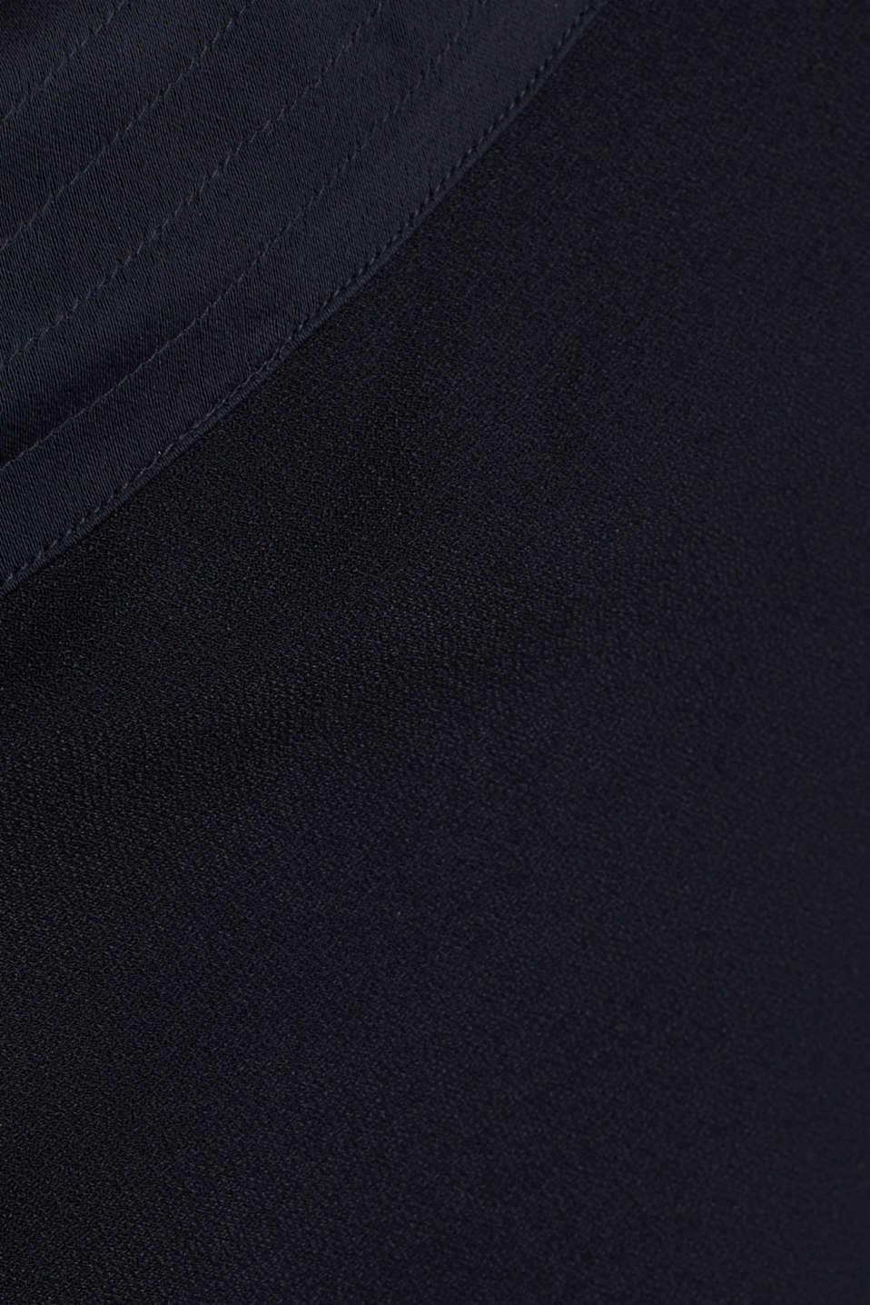 Maxi dress in a one-shoulder design, NAVY, detail image number 2