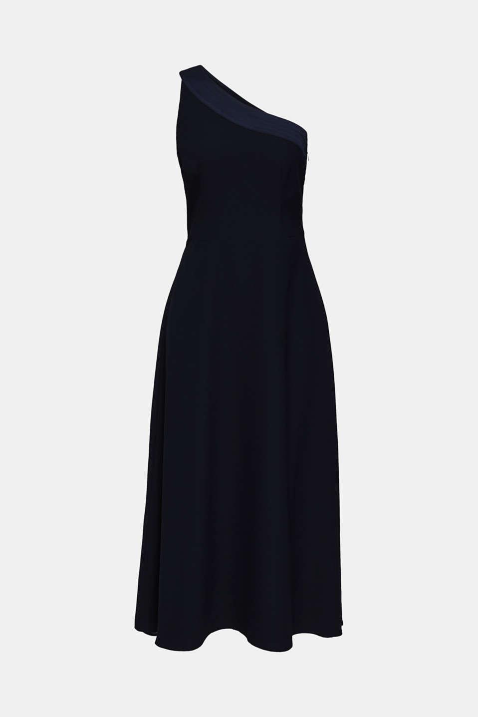 Maxi dress in a one-shoulder design, NAVY, detail image number 3