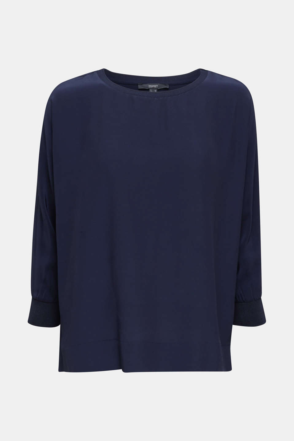 Batwing top made of LENZING™ ECOVERO™, NAVY, detail image number 6
