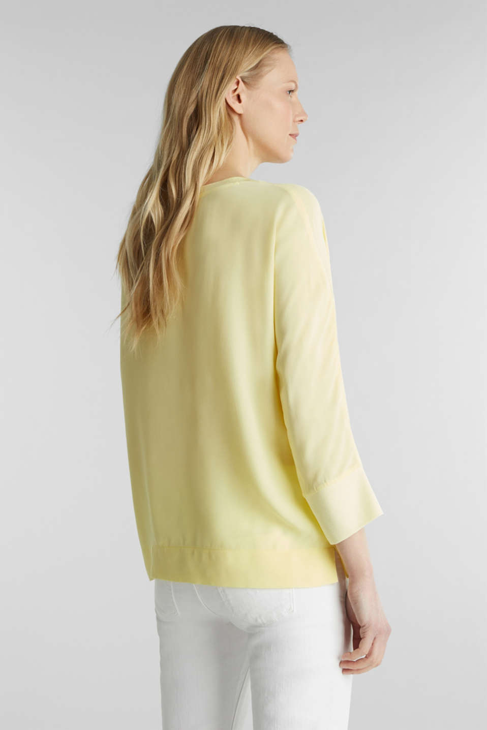 Batwing top made of LENZING™ ECOVERO™, LIME YELLOW, detail image number 3