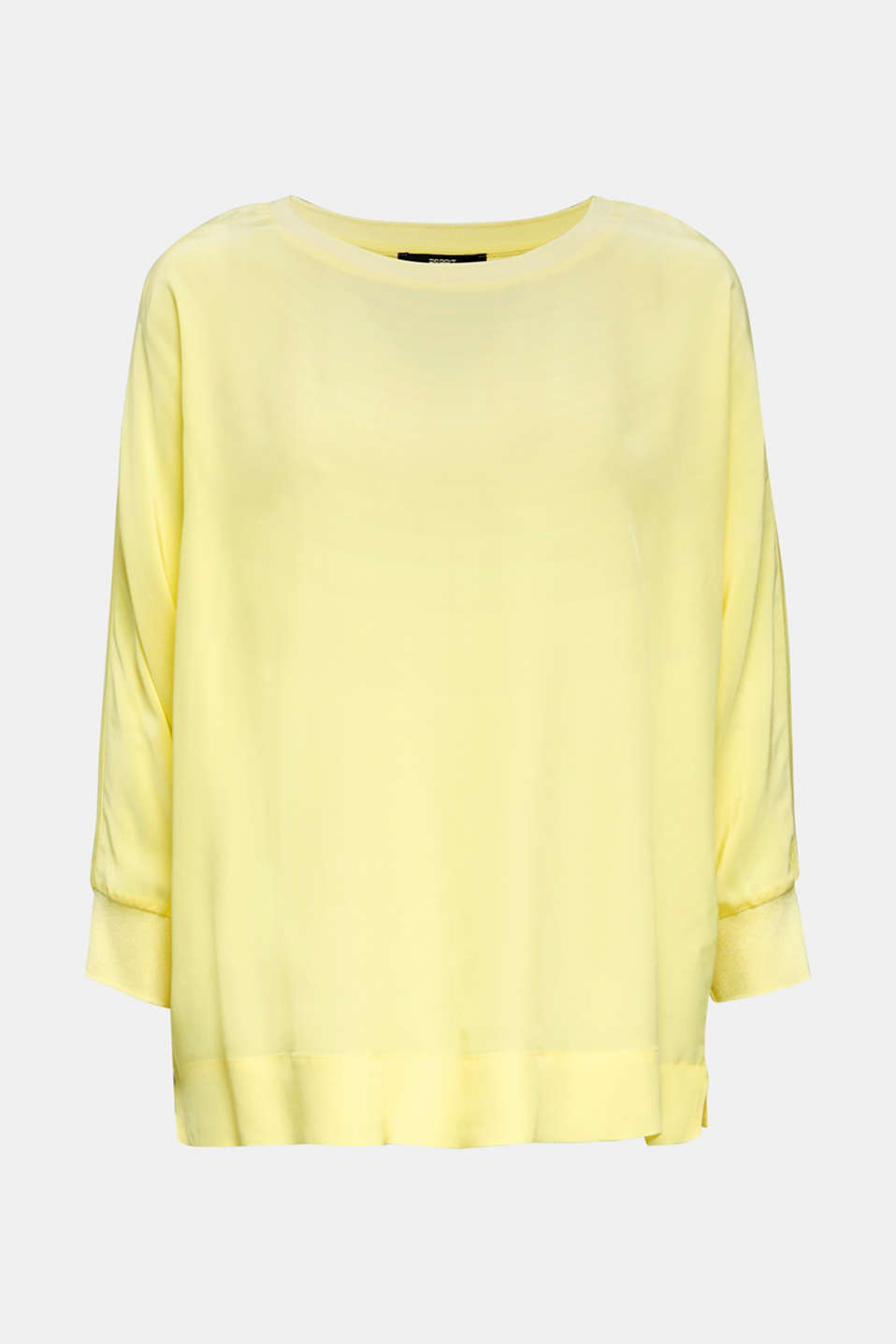 Batwing top made of LENZING™ ECOVERO™, LIME YELLOW, detail image number 7
