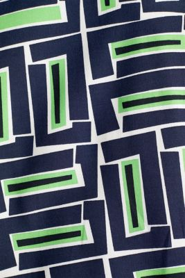Print blouse with LENZING™ ECOVERO™, NAVY 3, detail