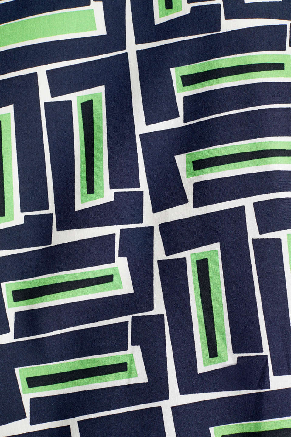 Print blouse with LENZING™ ECOVERO™, NAVY 3, detail image number 4