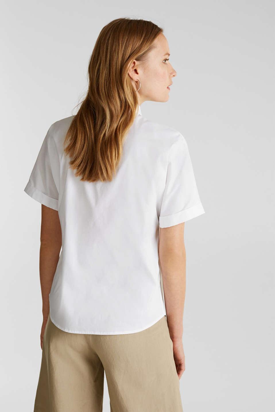 Shiny oversized blouse, WHITE, detail image number 3