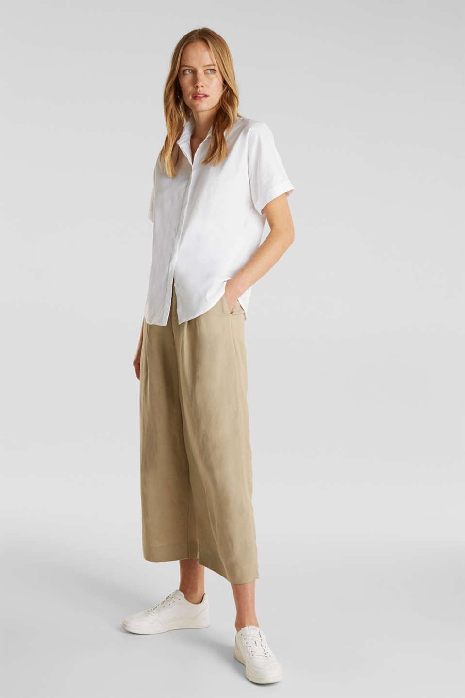 Shiny oversized blouse, WHITE, detail image number 5