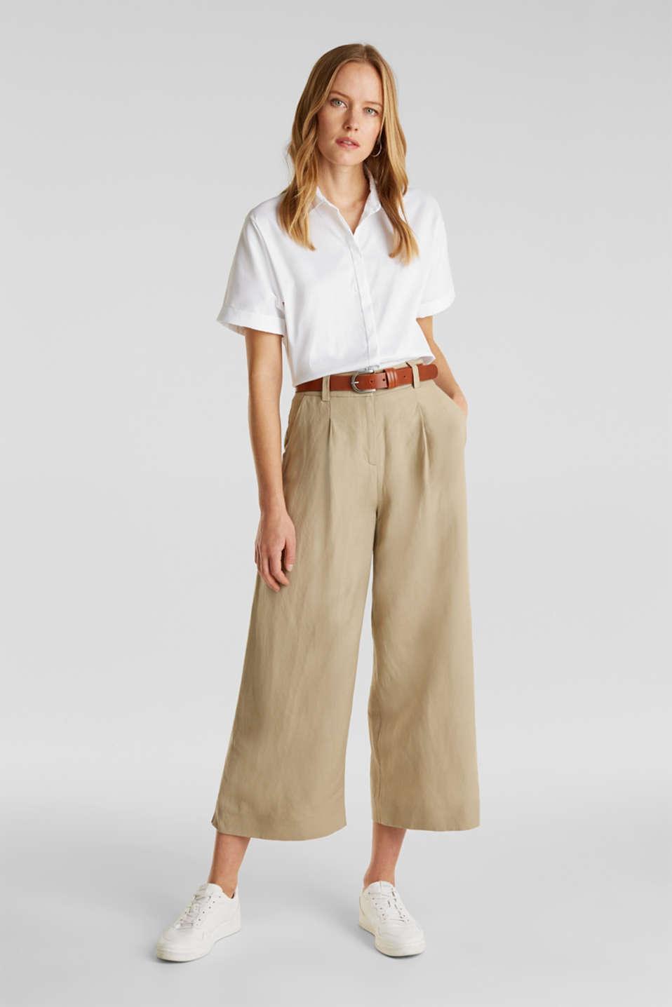 Shiny oversized blouse, WHITE, detail image number 1