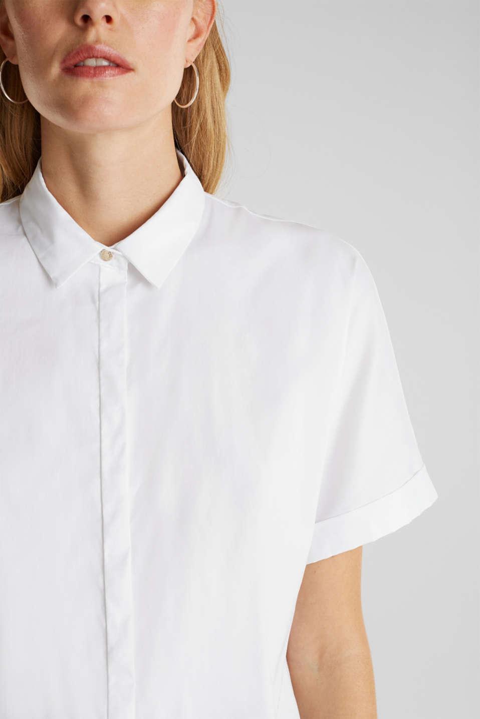 Shiny oversized blouse, WHITE, detail image number 2