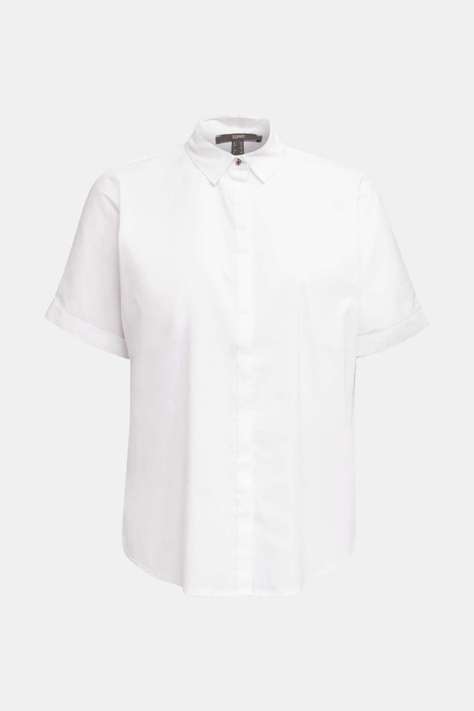 Shiny oversized blouse, WHITE, detail image number 6