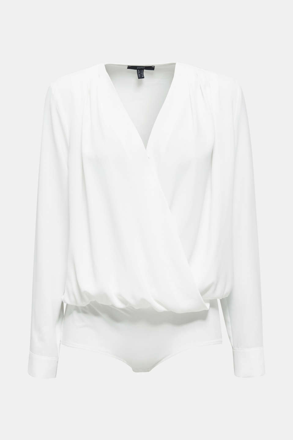 Crêpe body with a wrap-over effect, OFF WHITE, detail image number 6