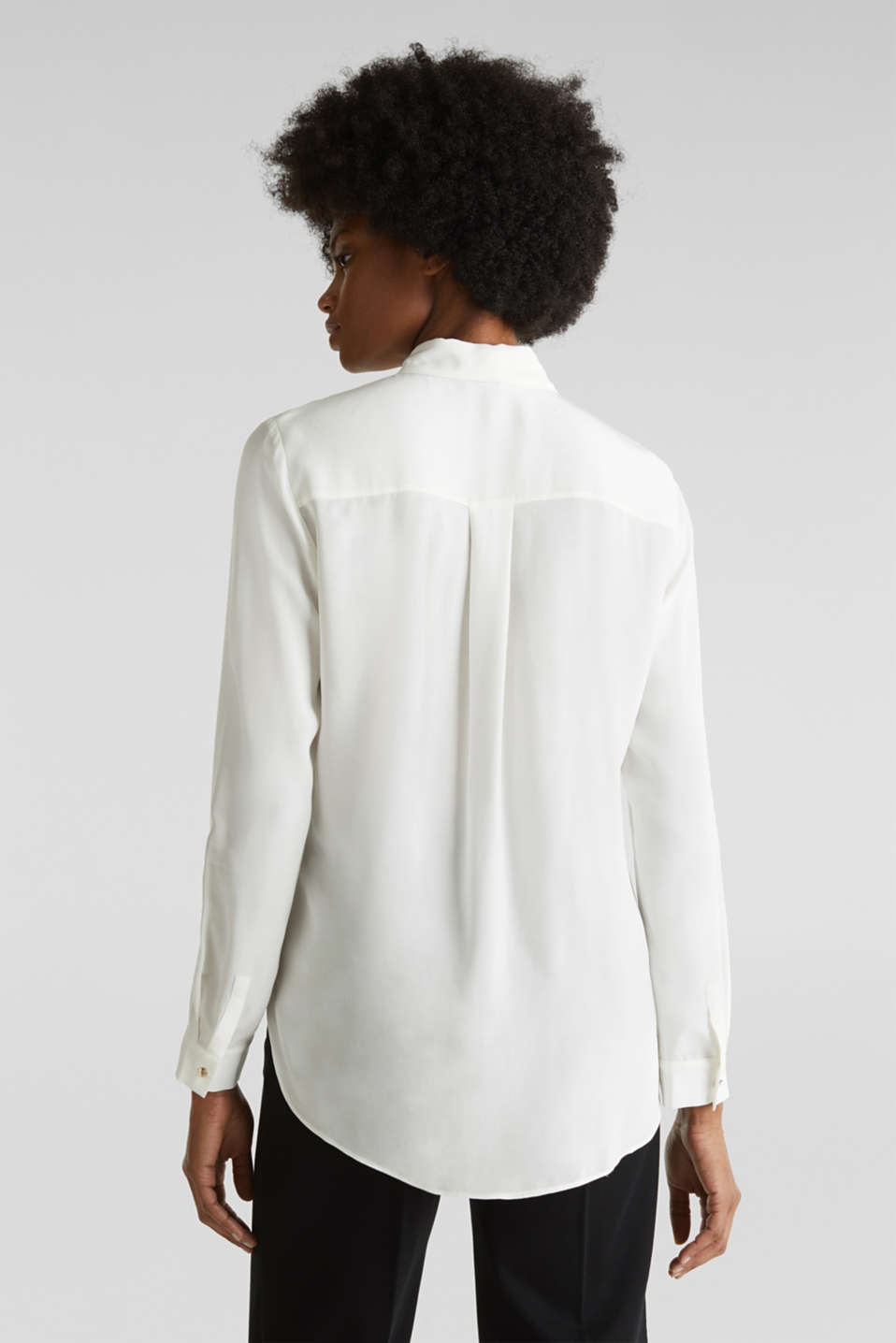 Long blouse made of LENZING™ ECOVERO™, OFF WHITE, detail image number 3