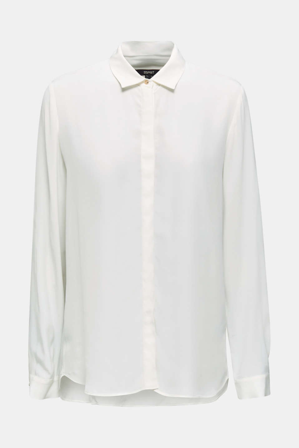 Long blouse made of LENZING™ ECOVERO™, OFF WHITE, detail image number 7