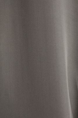 Satin Henley blouse, GUNMETAL, detail