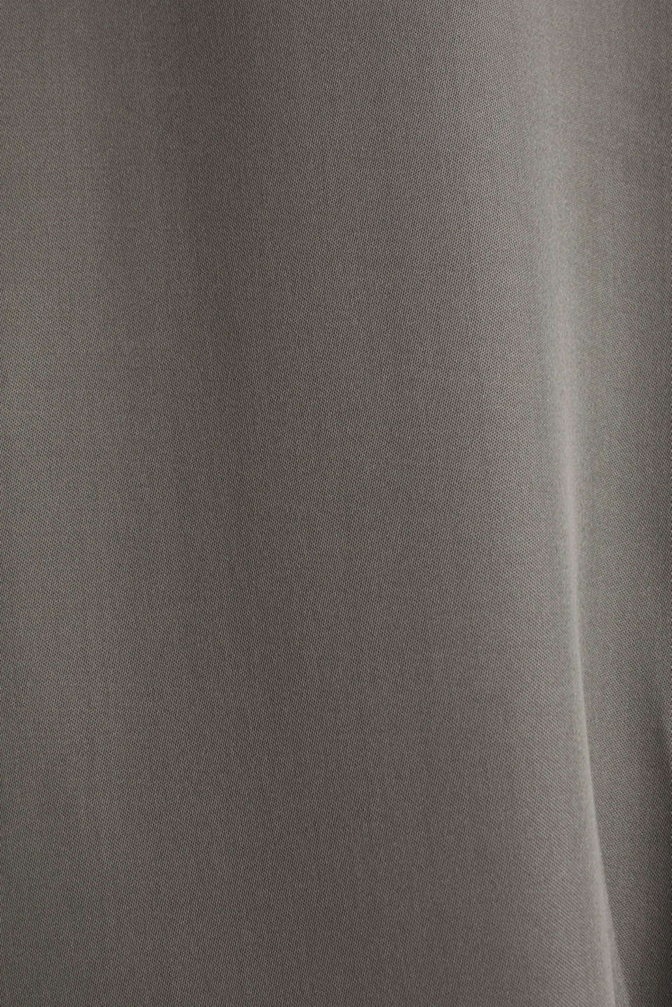 Satin Henley blouse, GUNMETAL, detail image number 4