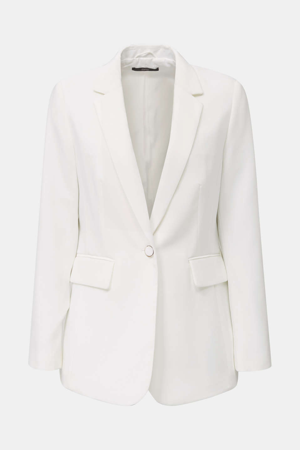 One-button blazer with stretch, WHITE, detail image number 5