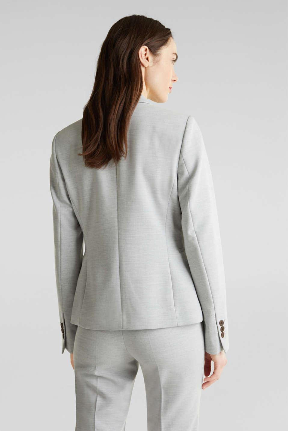 SUMMER BIZ mix + match stretch blazer, LIGHT GREY 5, detail image number 3