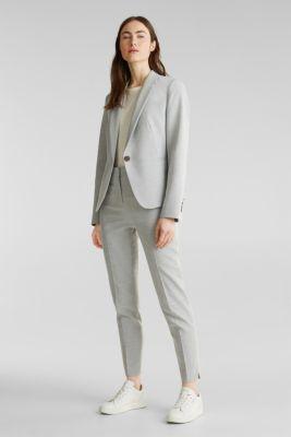 SUMMER BIZ mix + match stretch blazer, LIGHT GREY 5, detail