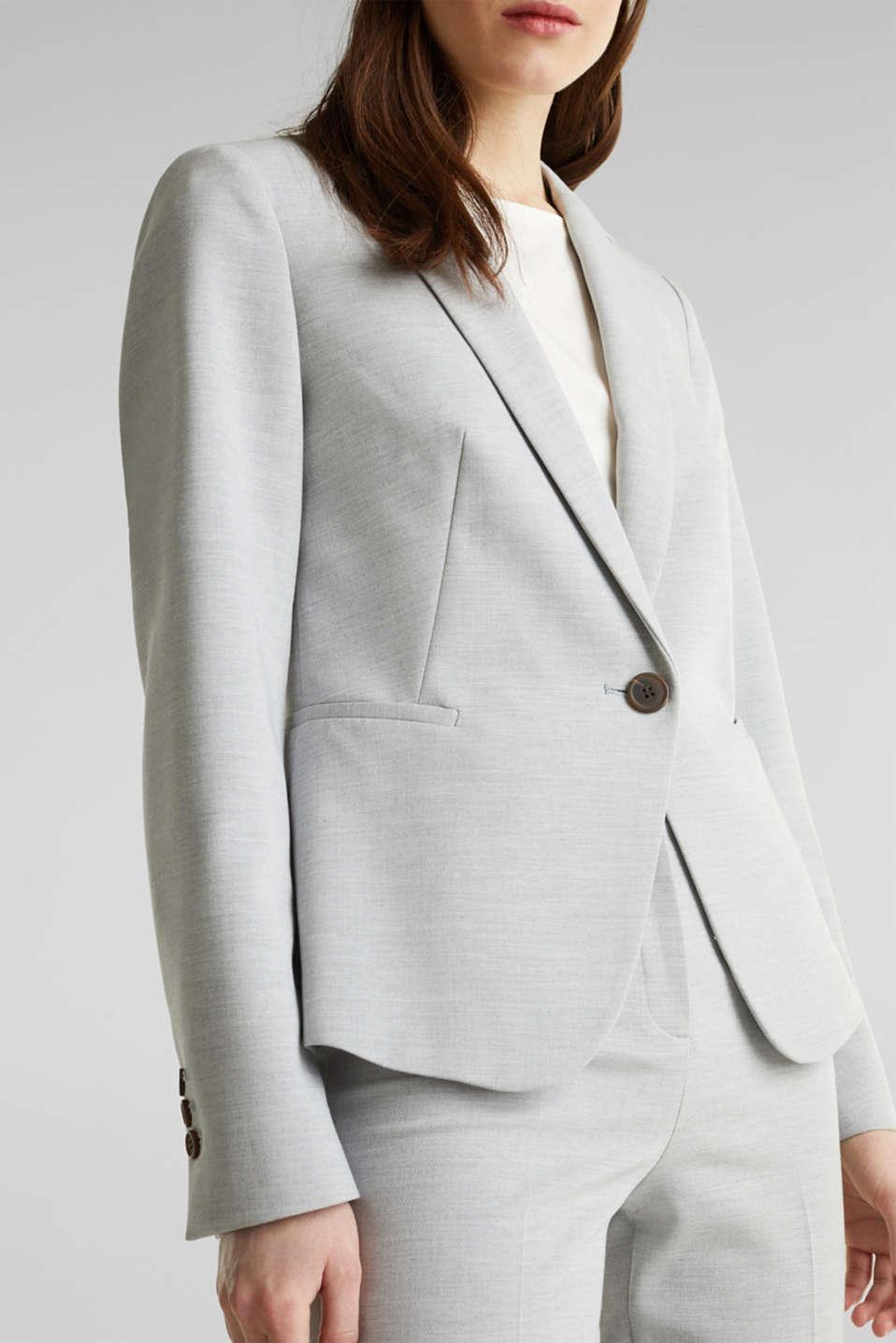 SUMMER BIZ mix + match stretch blazer, LIGHT GREY 5, detail image number 2