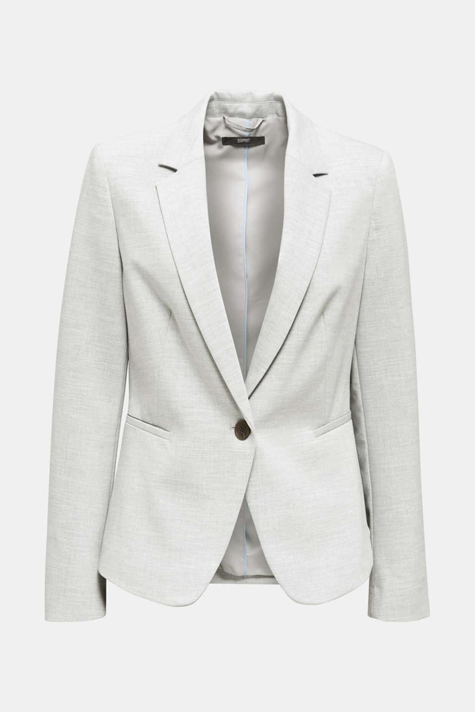 SUMMER BIZ mix + match stretch blazer, LIGHT GREY 5, detail image number 6