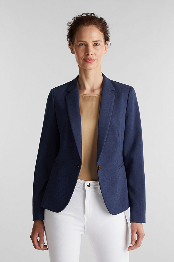 SUMMER BIZ Mix + Match Blazer, GREY BLUE, detail image number 0