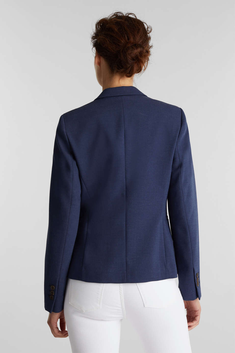 SUMMER BIZ mix + match blazer, GREY BLUE 5, detail image number 3