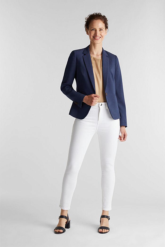 SUMMER BIZ mix + match blazer, GREY BLUE, detail image number 1
