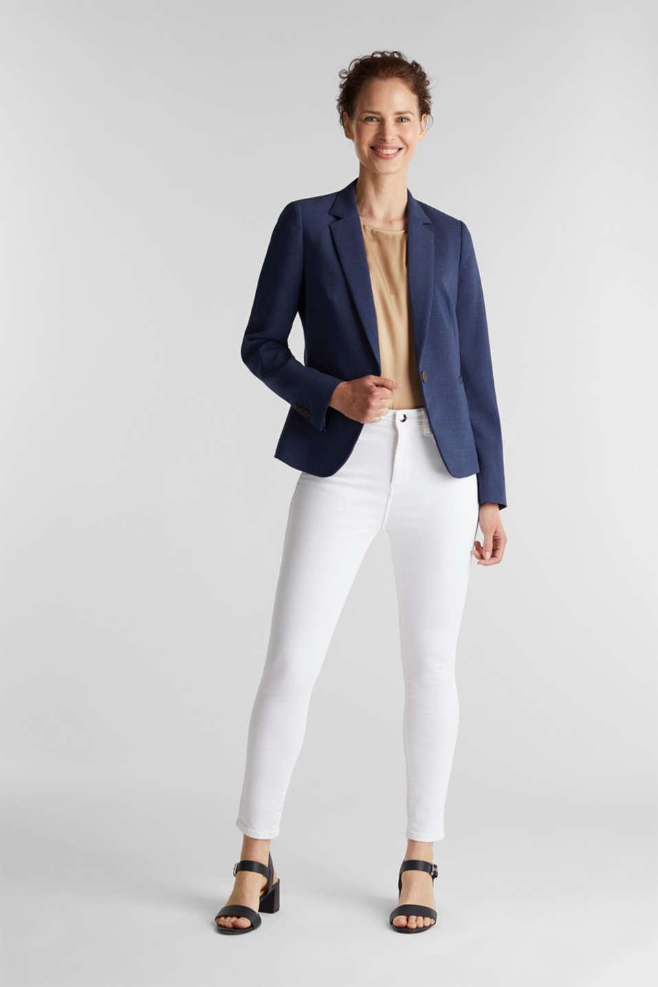 SUMMER BIZ mix + match blazer, GREY BLUE 5, detail image number 1