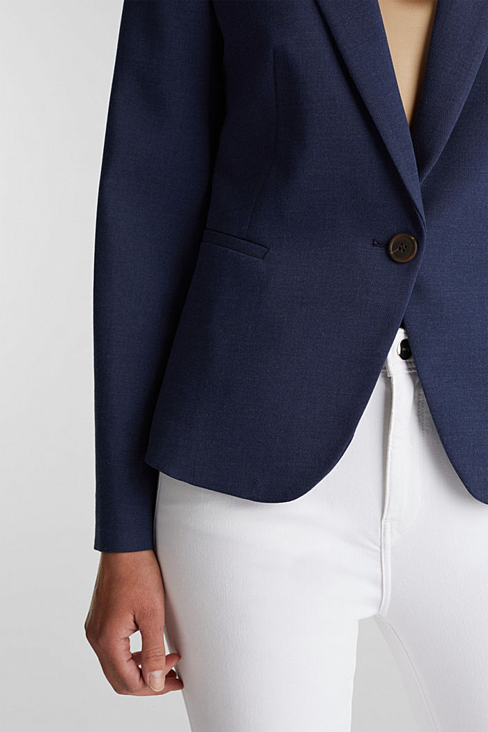 SUMMER BIZ Mix + Match Blazer, GREY BLUE, detail image number 2