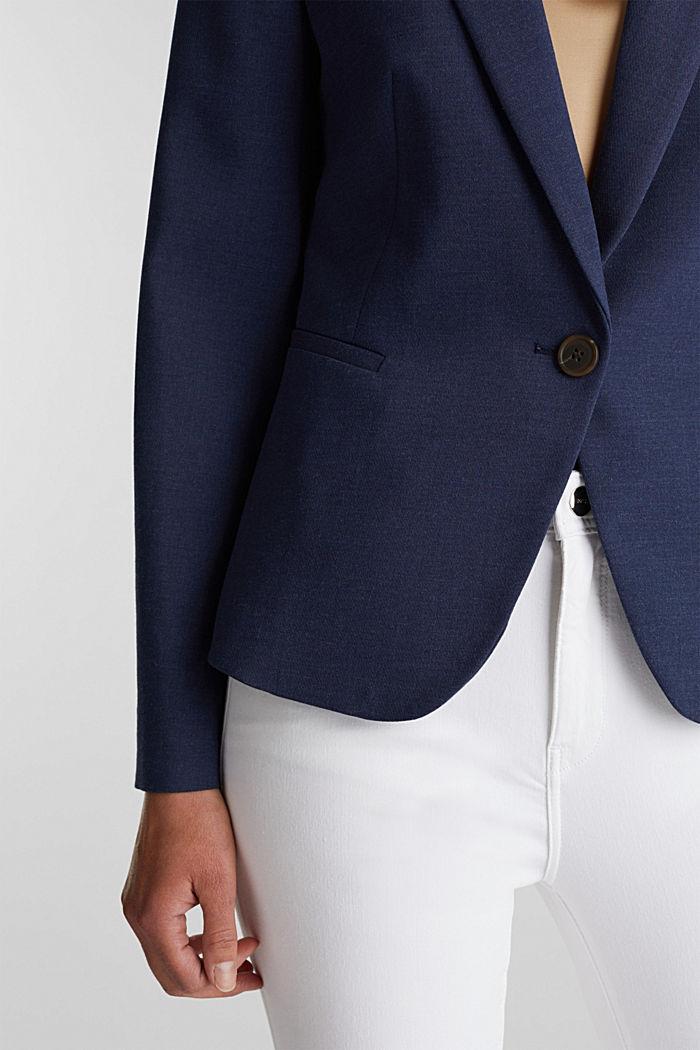SUMMER BIZ mix + match blazer, GREY BLUE, detail image number 2