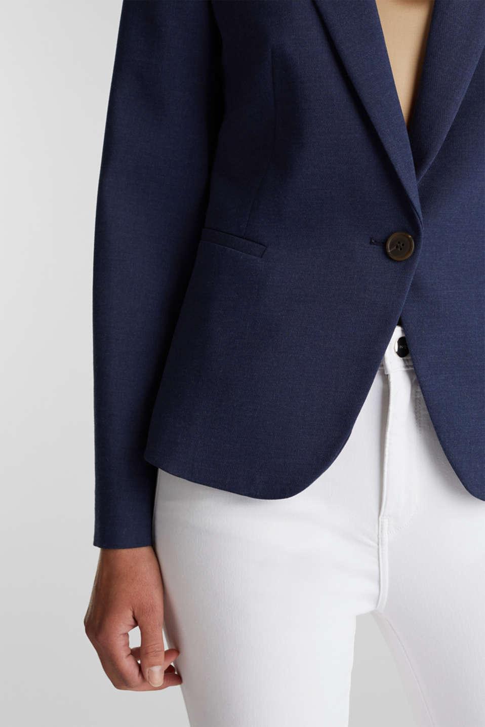 SUMMER BIZ mix + match blazer, GREY BLUE 5, detail image number 2