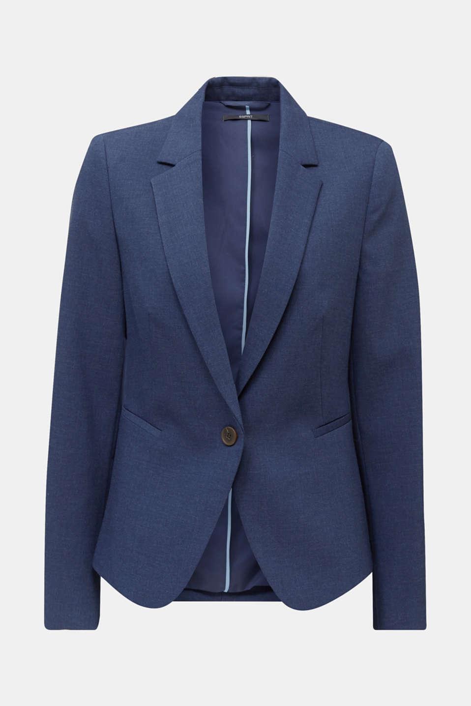 SUMMER BIZ mix + match blazer, GREY BLUE 5, detail image number 6