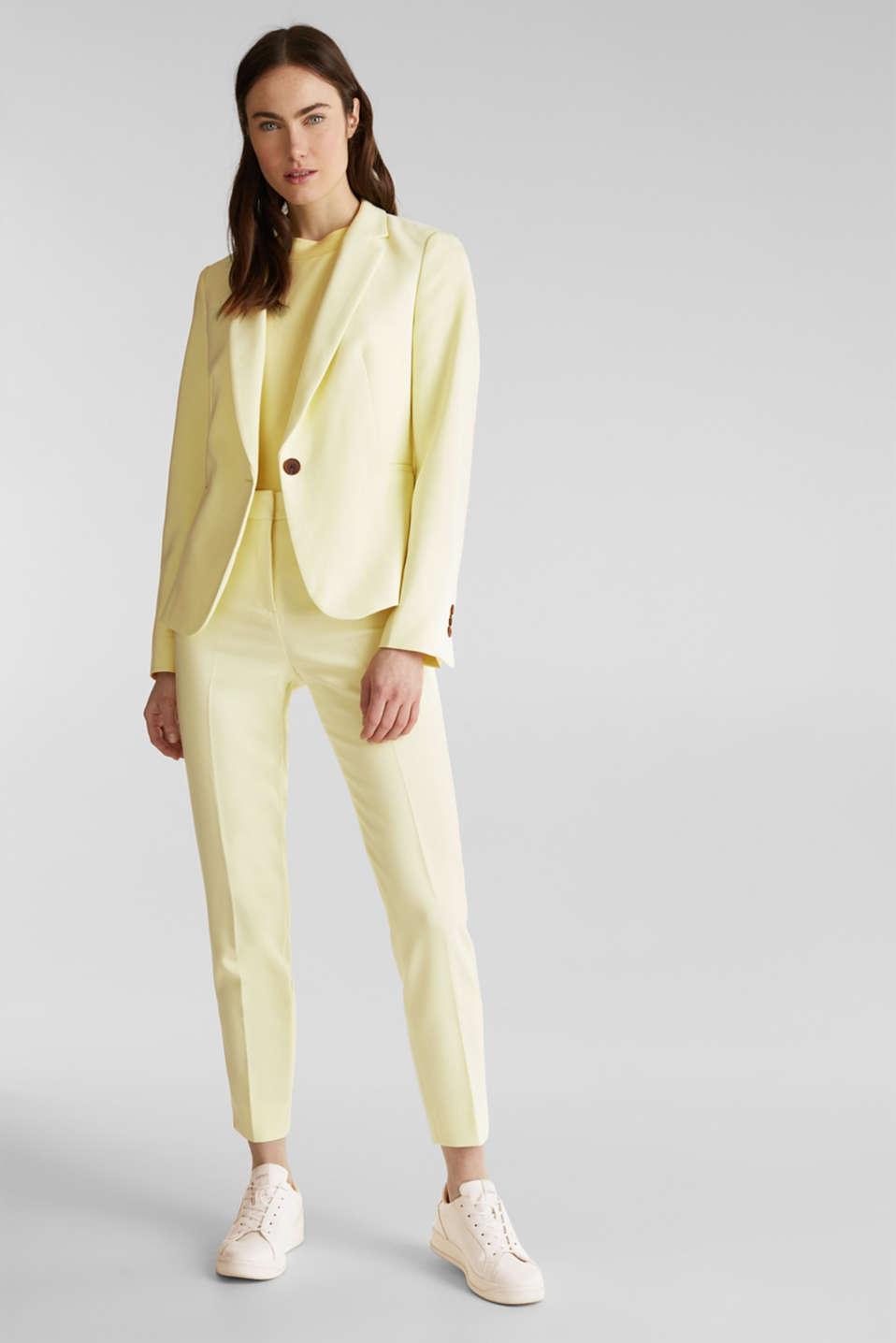 SUMMER BIZ mix + match blazer, LIME YELLOW, detail image number 1