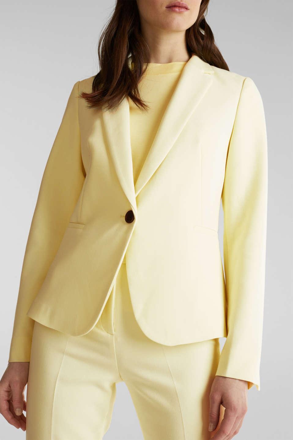 SUMMER BIZ mix + match blazer, LIME YELLOW, detail image number 2
