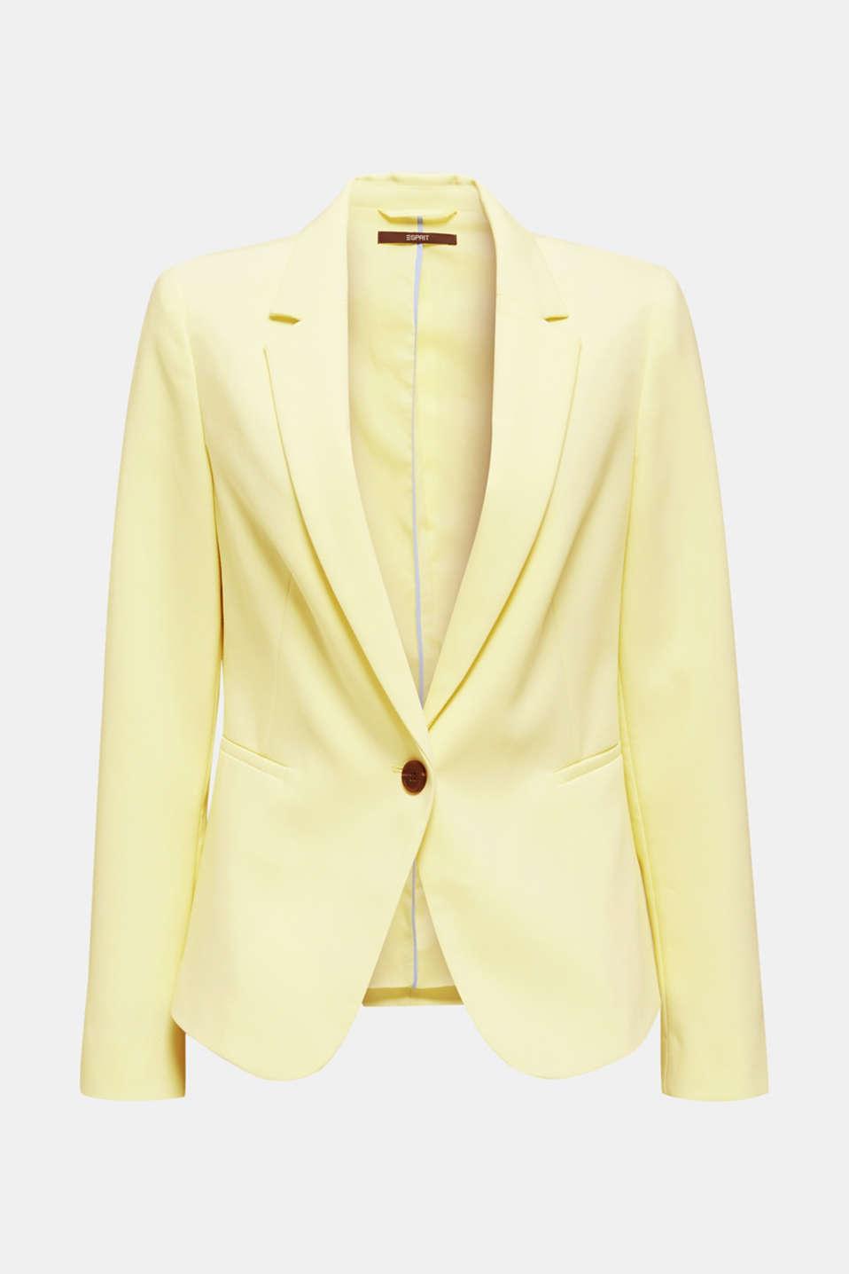 SUMMER BIZ mix + match blazer, LIME YELLOW, detail image number 6