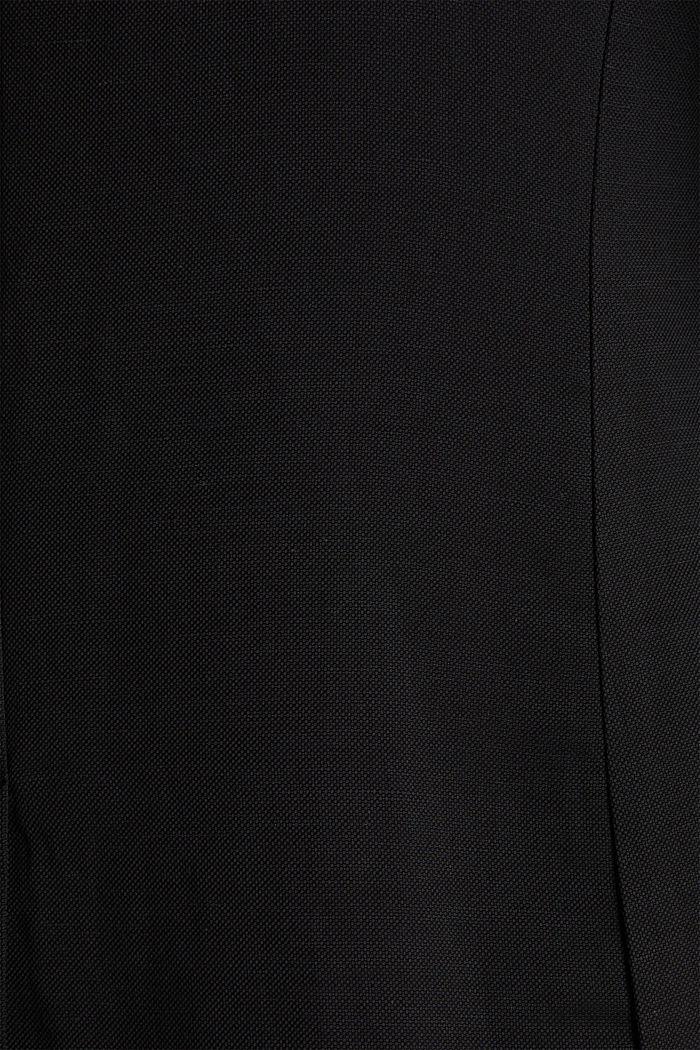 Mit Leinen: taillierter 1-Knopf-Blazer, BLACK, detail image number 4