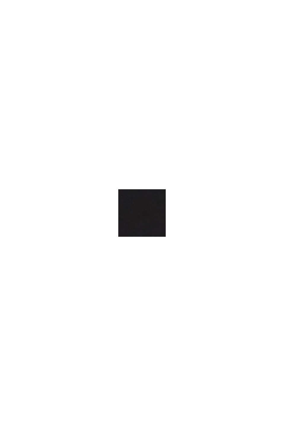 Linen blend: fitted 1-button blazer, BLACK, swatch
