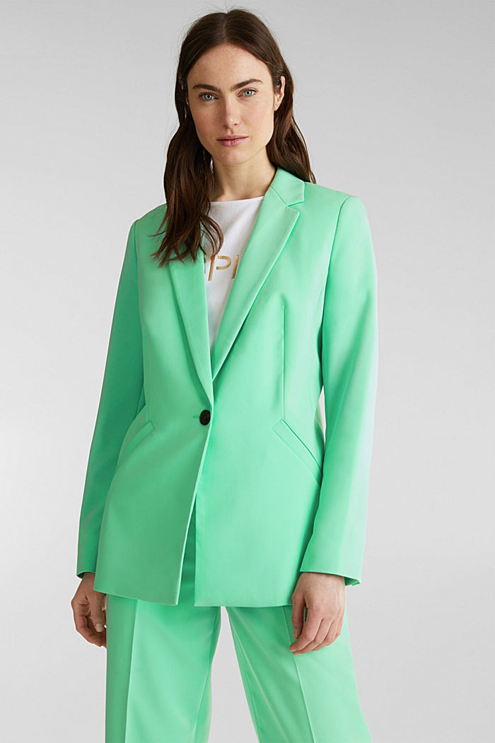 SHIMMER mix + match stretch blazer, LIGHT GREEN, detail image number 0