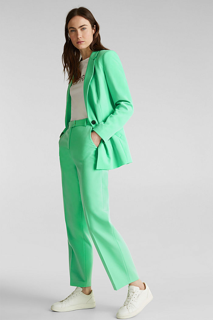 SHIMMER mix + match stretch blazer, LIGHT GREEN, detail image number 1