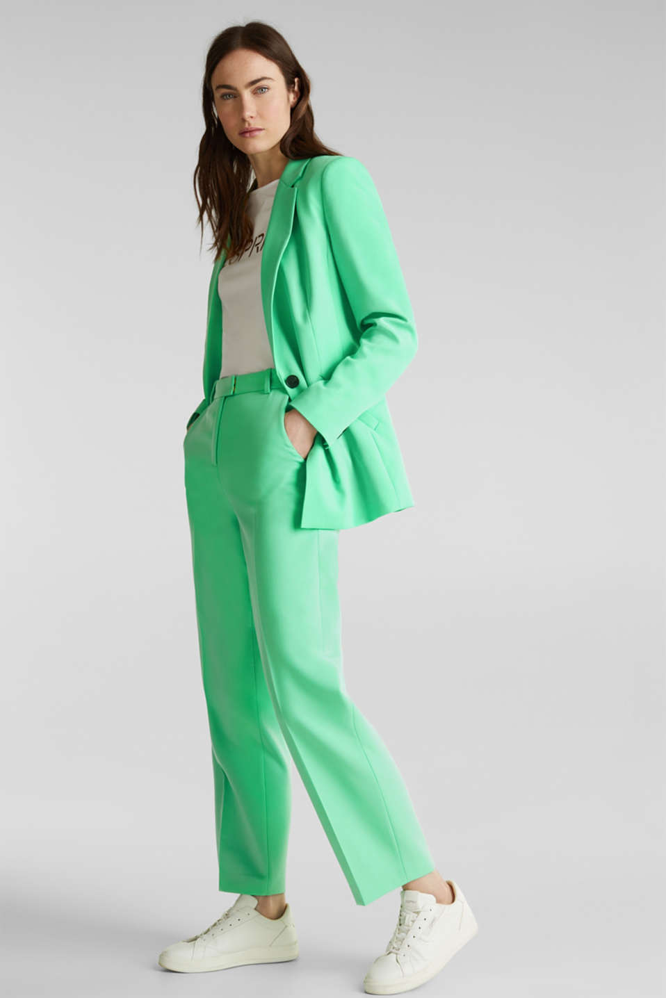 SHIMMER mix + match stretch blazer, LIGHT GREEN, detail image number 1